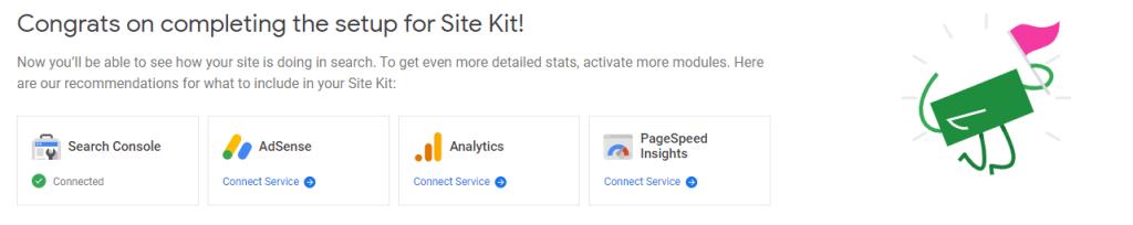 setting up google site kit